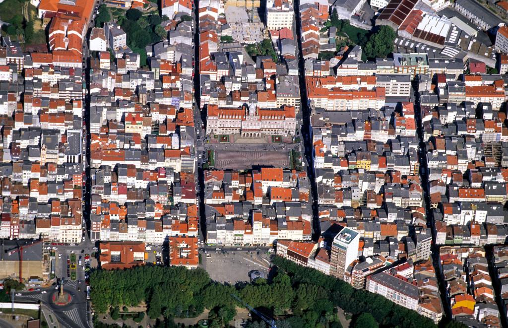 Foto aérea barrio A Magdalena